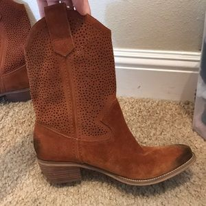 Cowboy boots- BCBG with cutout top